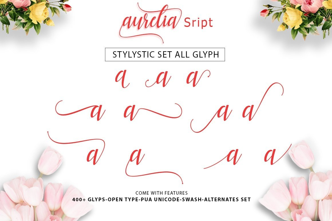 Web Font Aurelia Script example image 2