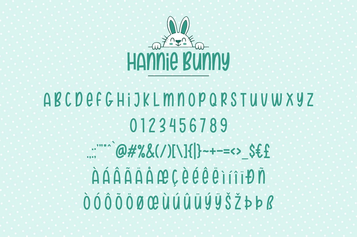 Hannie Bunny | Funny Font example image 7