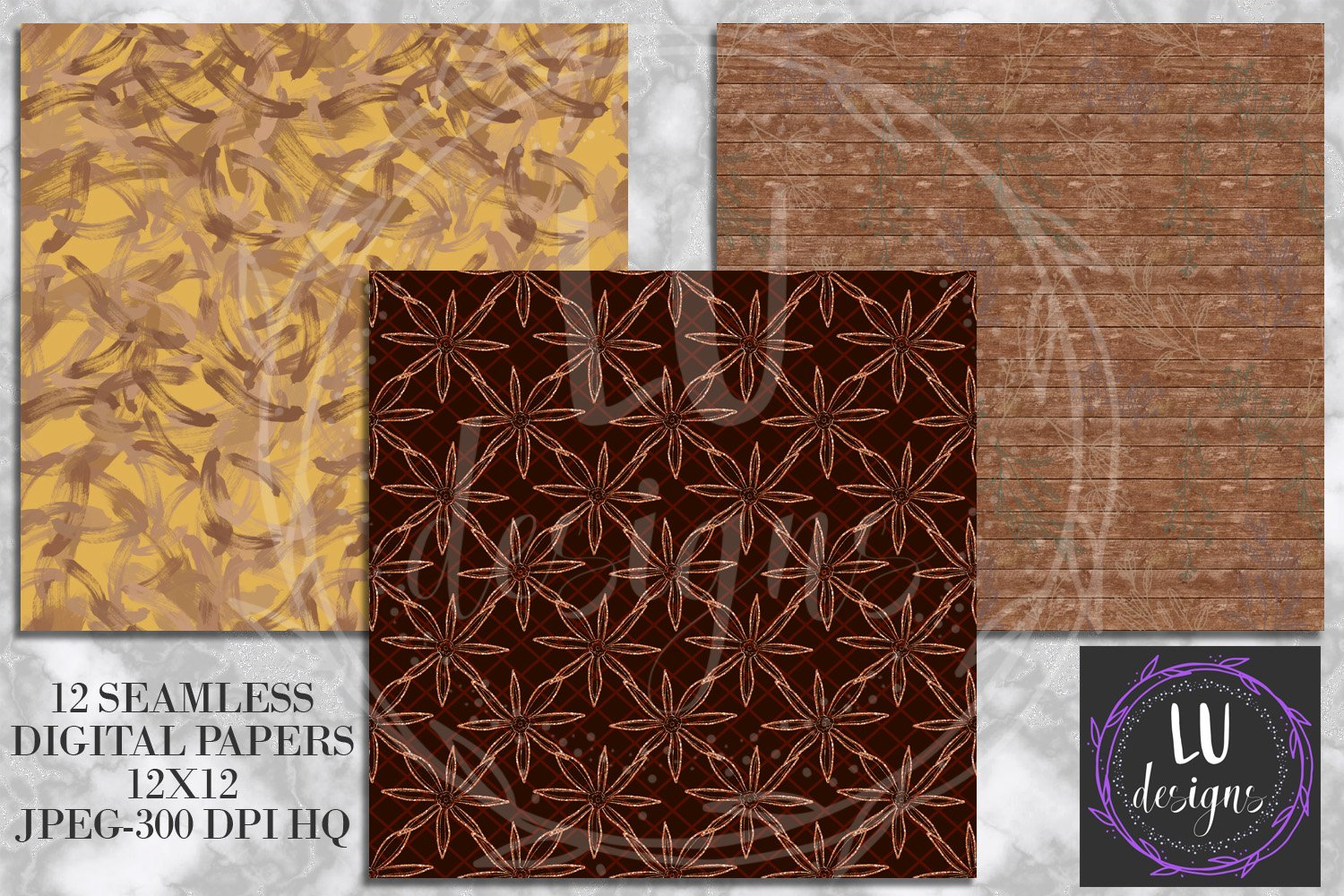 Cinnamon Spice Autumn Digital Paper, Fall Coffee Backgrounds example image 4