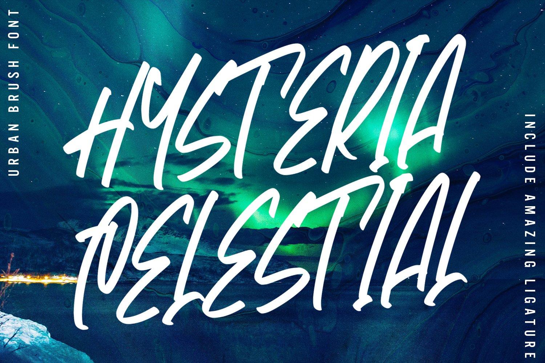 Hysteria - Urban Brush Font example image 1