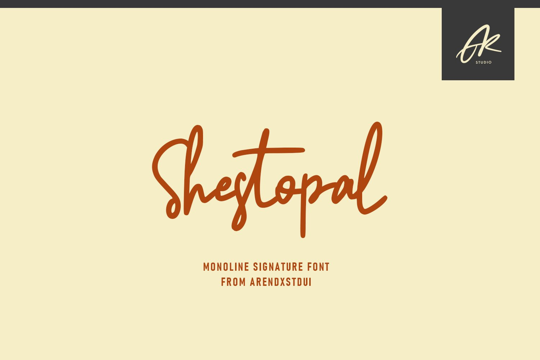 Shestopal Monoline Signature example image 1