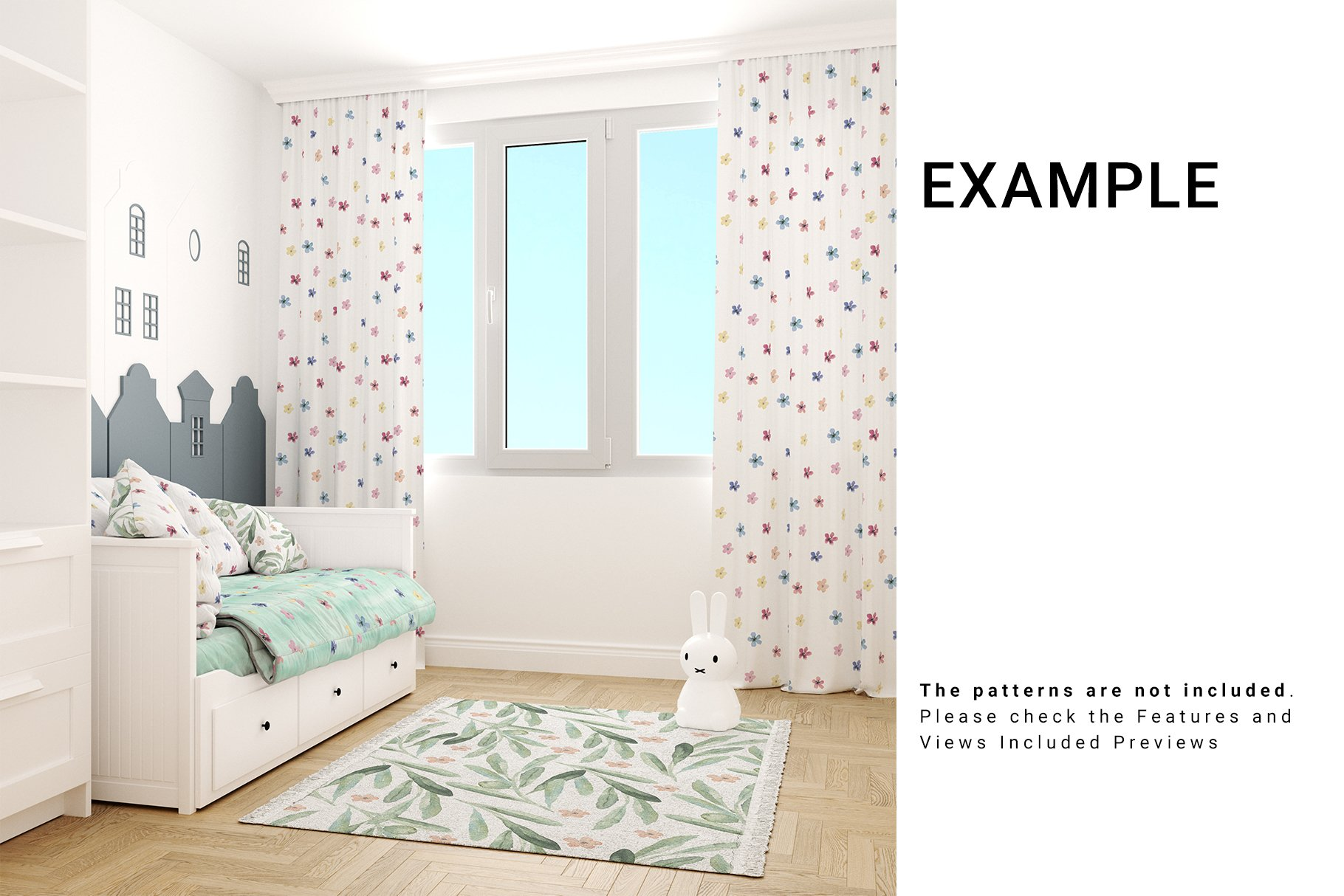 Toddlers Room Textile - Bedding, Curtains & Carpet Set example image 5