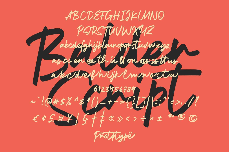 Balder Script Font example image 2