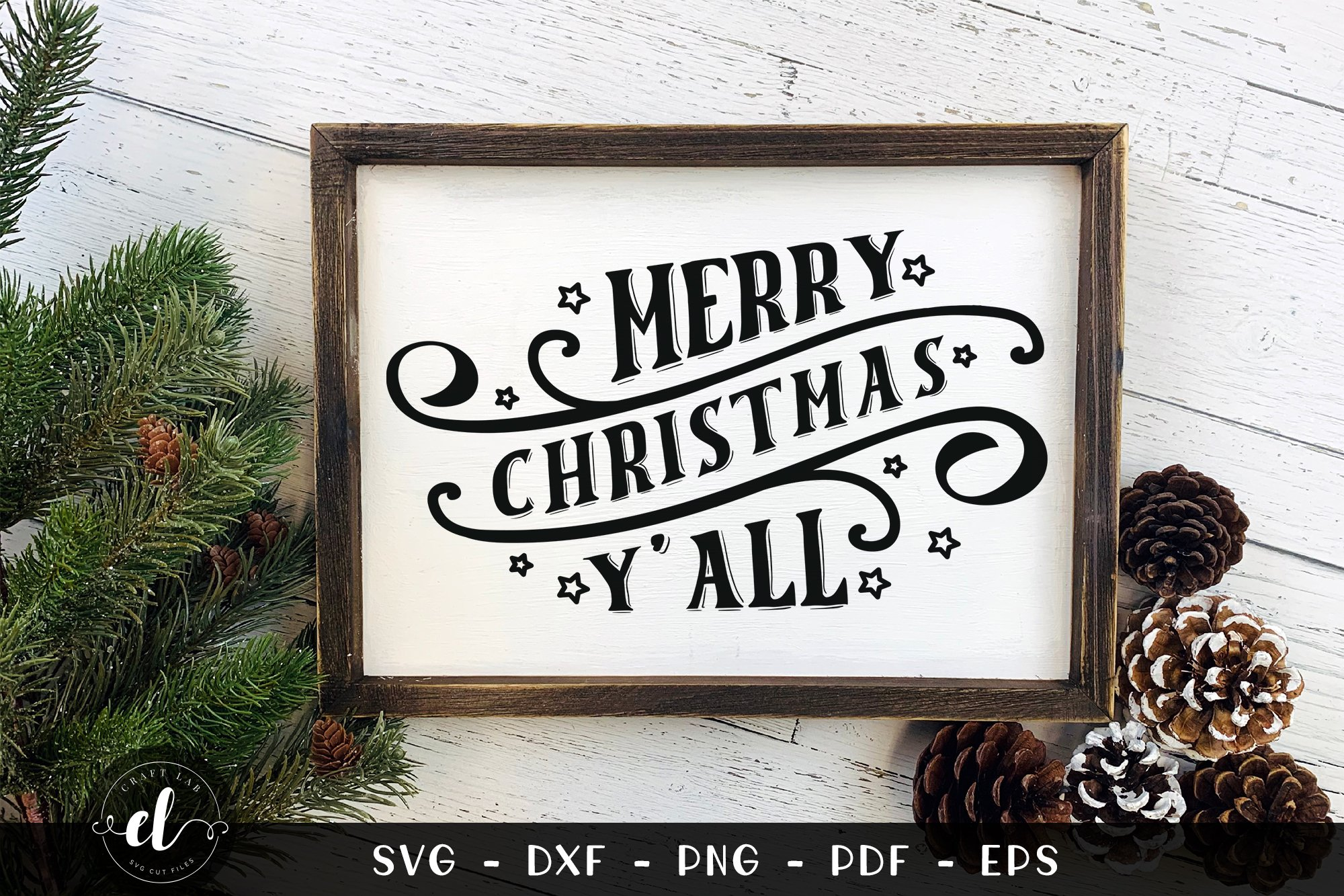Merry Christmas Y All Christmas Svg Dxf Png Pdf Eps 833230 Cut Files Design Bundles