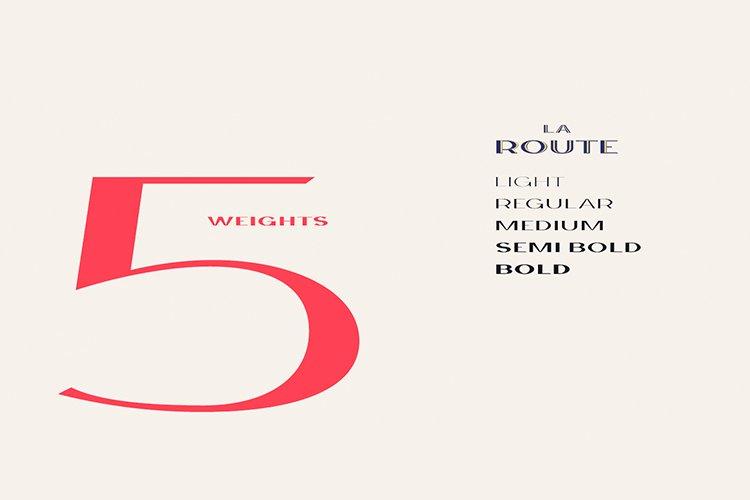 La Route Typeface example image 2