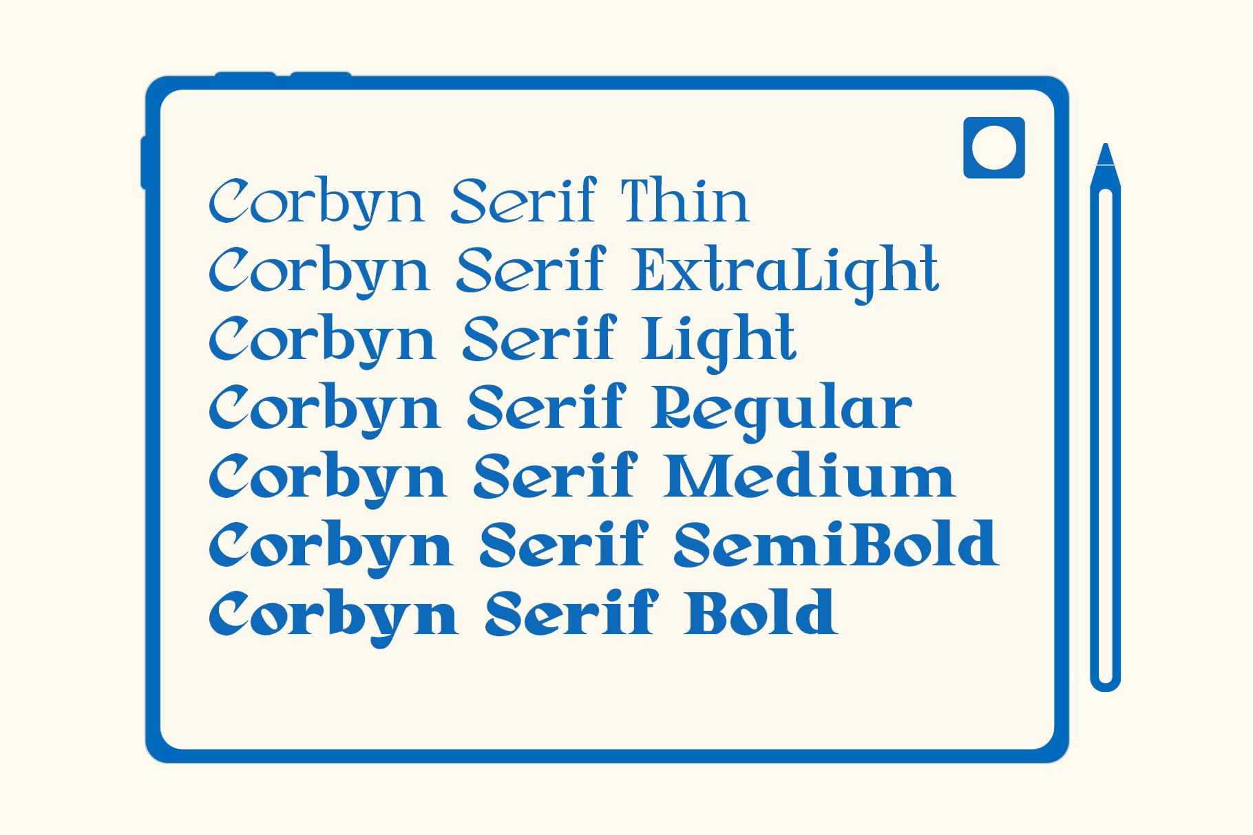 Corbyn Serif example image 5