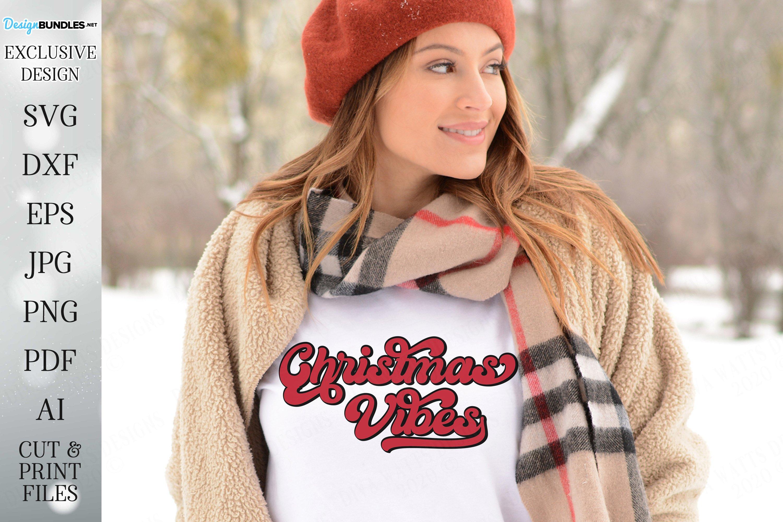 Christmas Vibes - Retro Design - Christmas Design example image 2