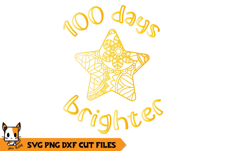 Download 100 Days Brighter 100 Days Of School Zentangle Svg Png Dxf 418492 Cut Files Design Bundles