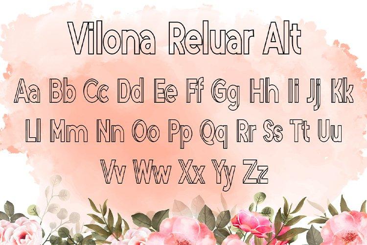 Vilona |Three Typeface example image 11