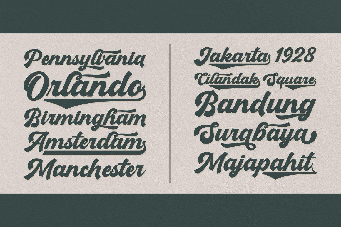 Boldmatte Bold Script Font example image 2
