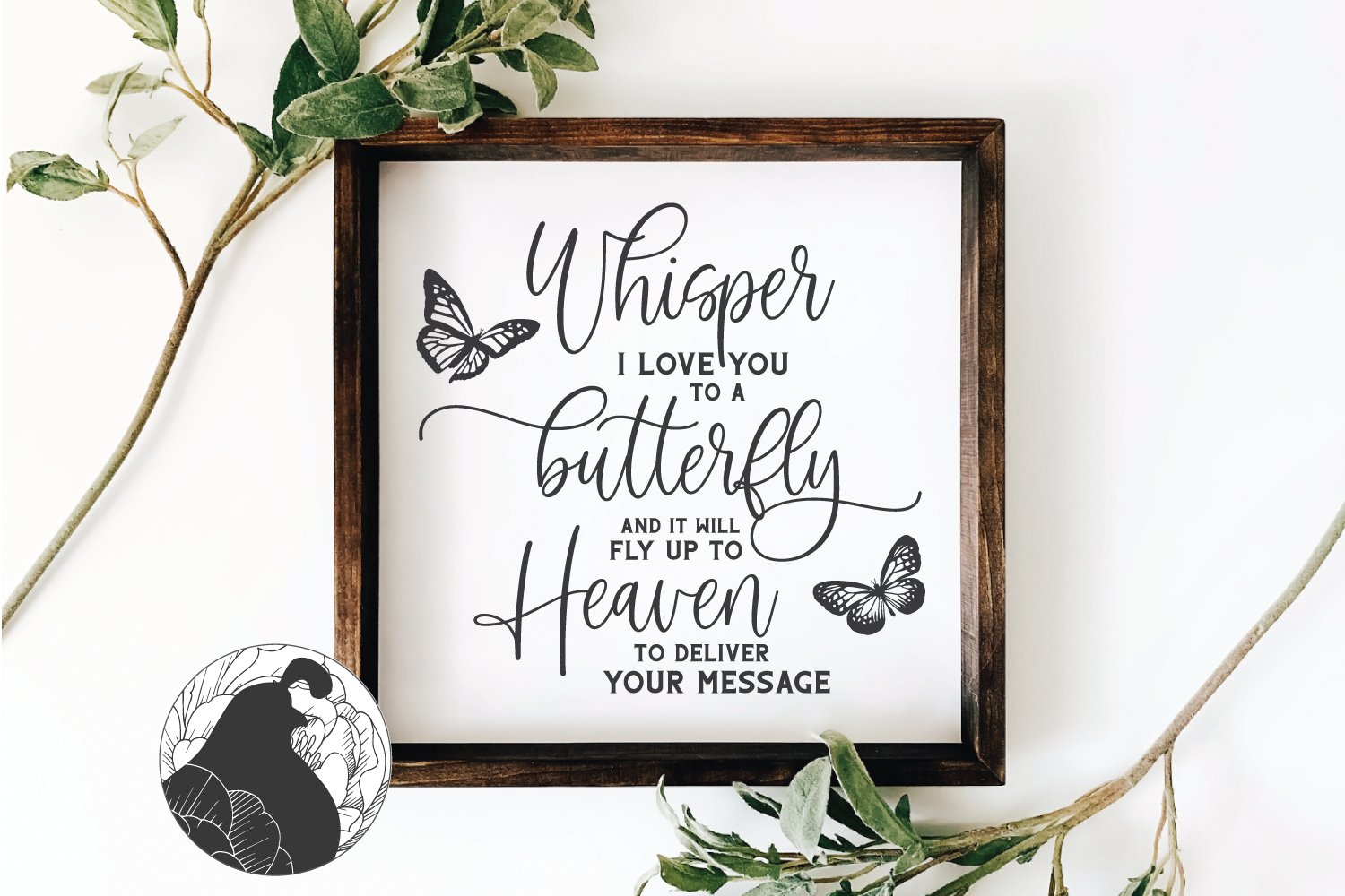 Download Whisper I Love You to a Butterfly SVG, Memorial SVG ...