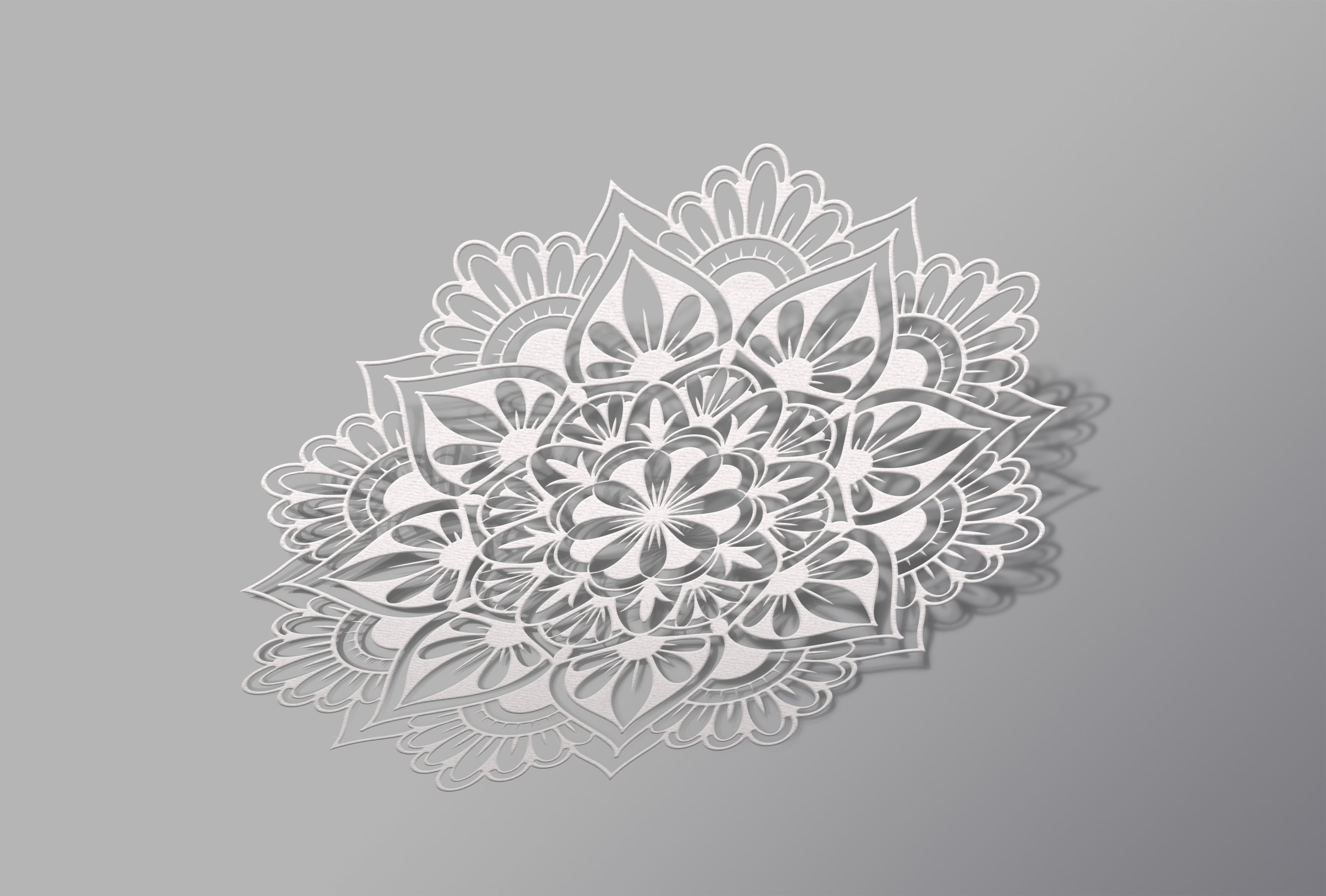 SVG mandala cut file for laser cutting, Cricut, Silhouette. example image 5