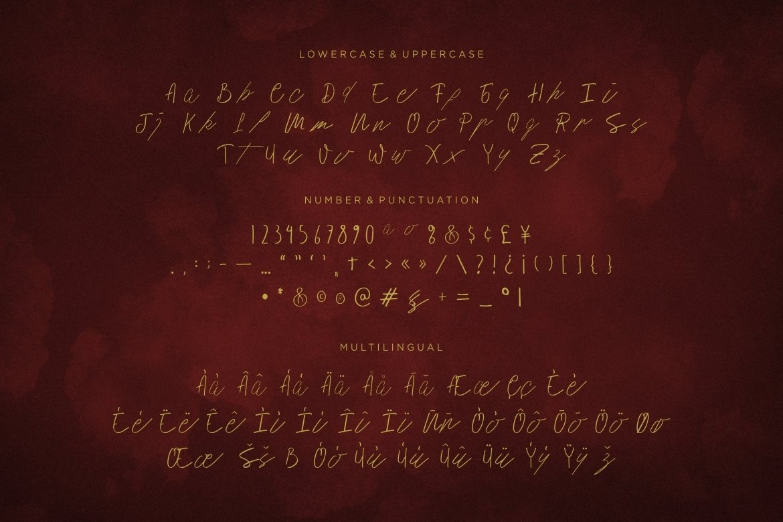 History Script Font example image 5