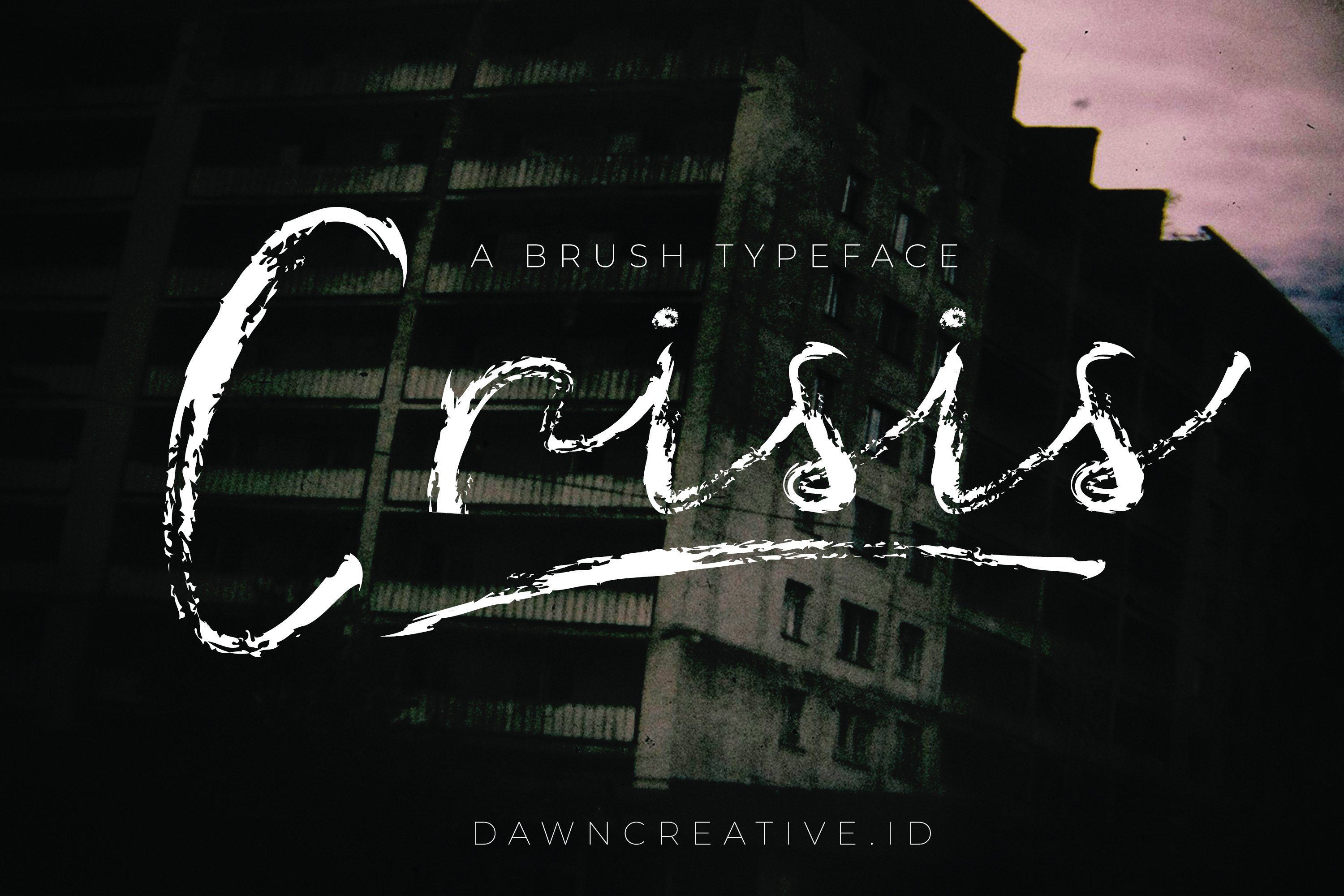 Crisis font example image 1