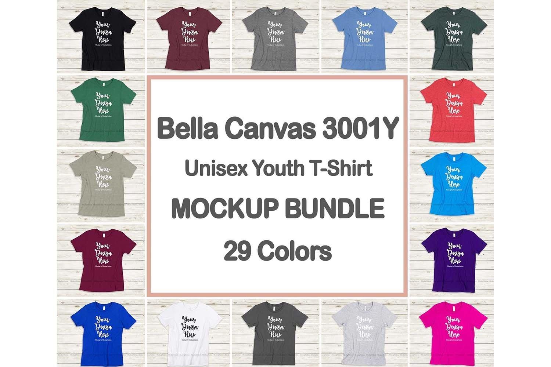 Studio Mockup Youth Bella Canvas Mockup 3001Y Tshirt Mockup Lifestyle Mockup Digital Mockup