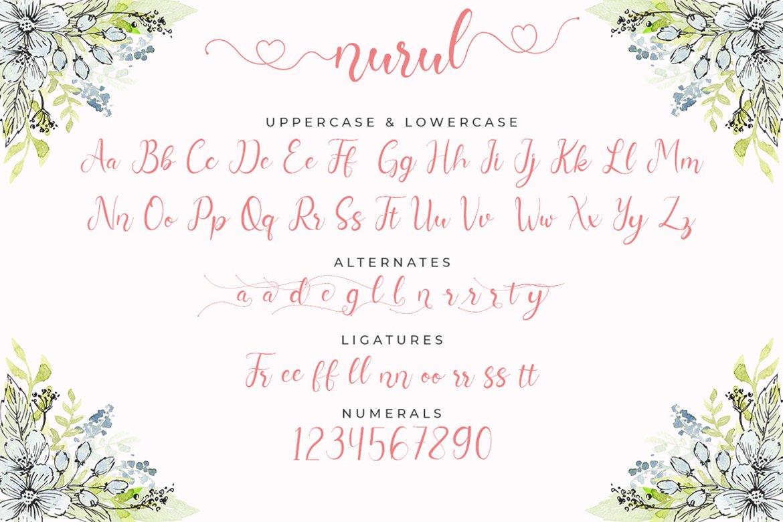 Nurul Script   A Calligraphy Font example image 8