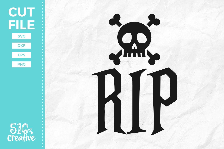 Rip Skull Crossbones Svg Dxf Eps Png 363161 Svgs Design Bundles