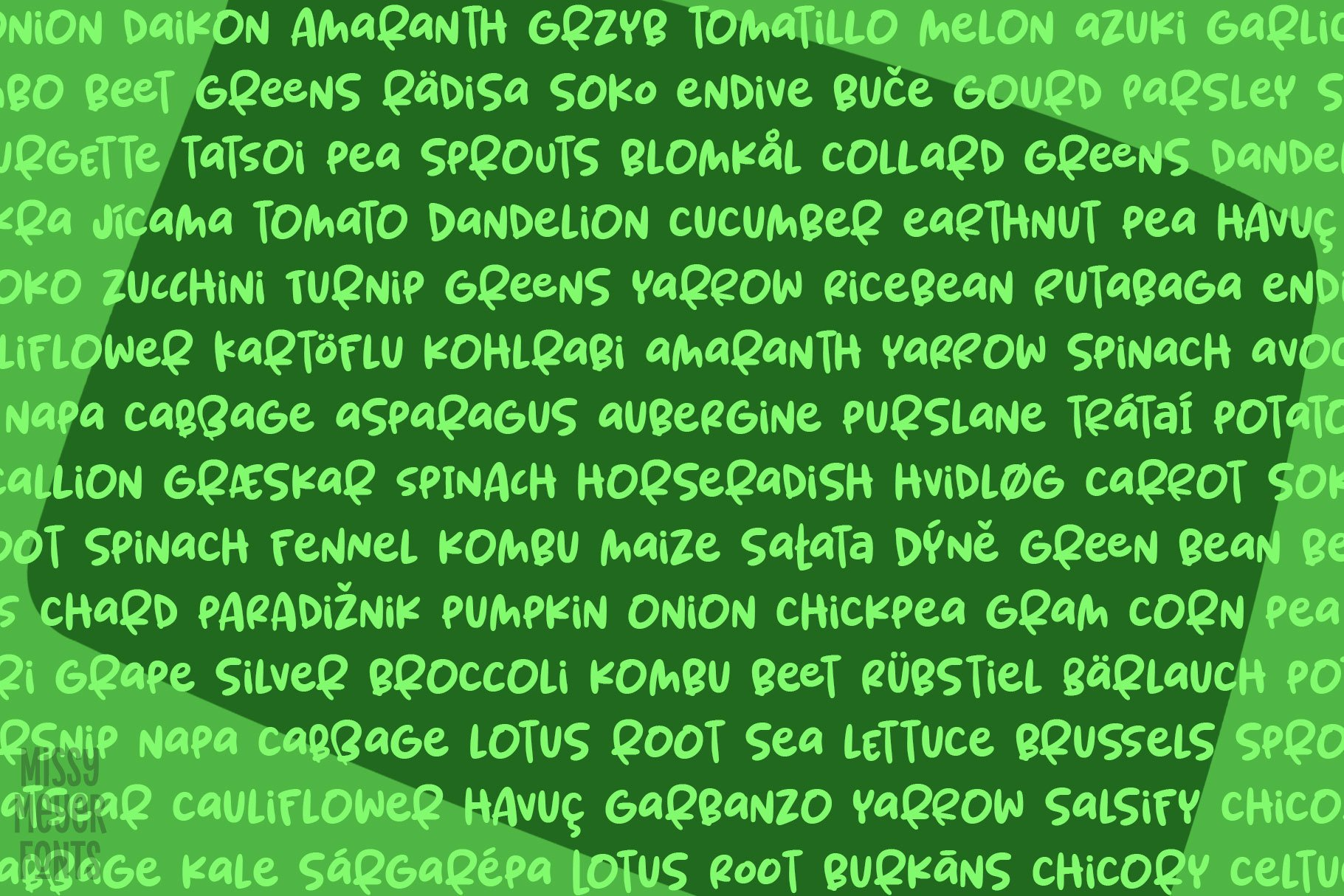 Spring Herbs - a bouncy, blobby, whimsical font! example image 8