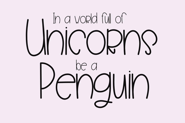 Penguin Farts - A Fun Handwritten Font example image 2