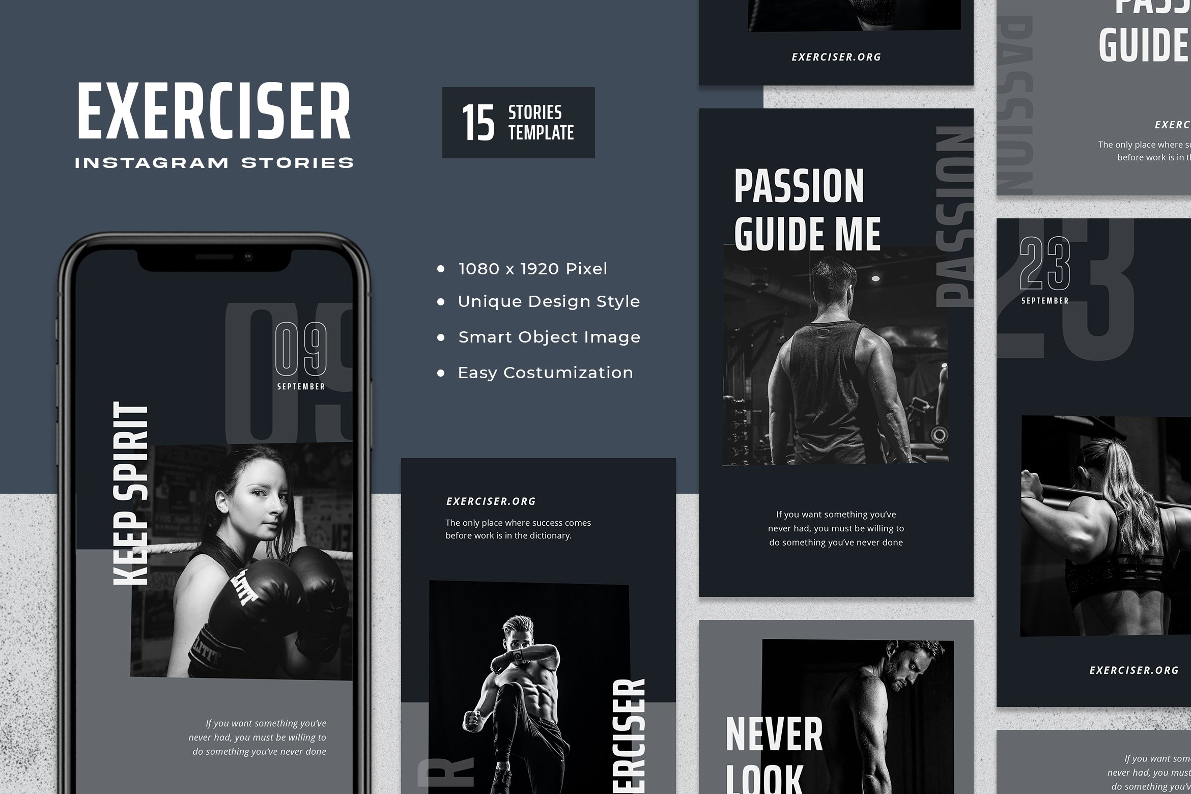 Exerciser - Gym & Fitness Instagram Stories Template example image 1
