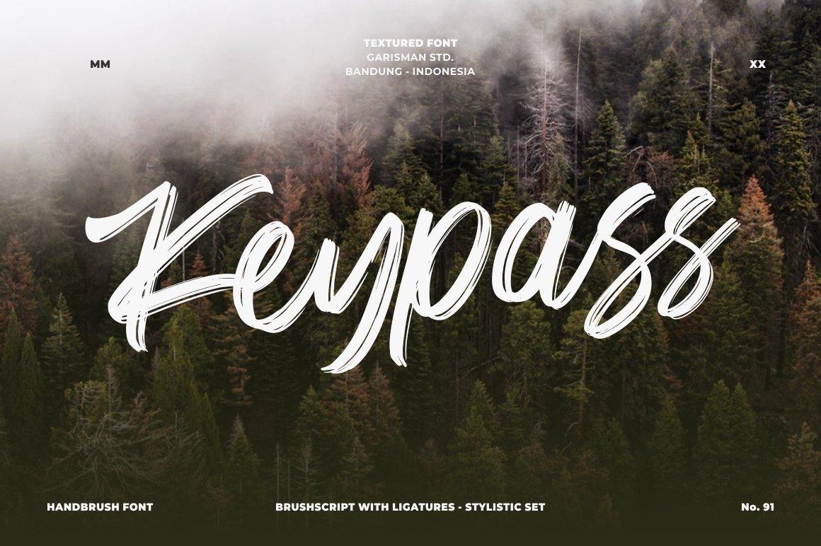 Keypass - Handbrush Font example image 1