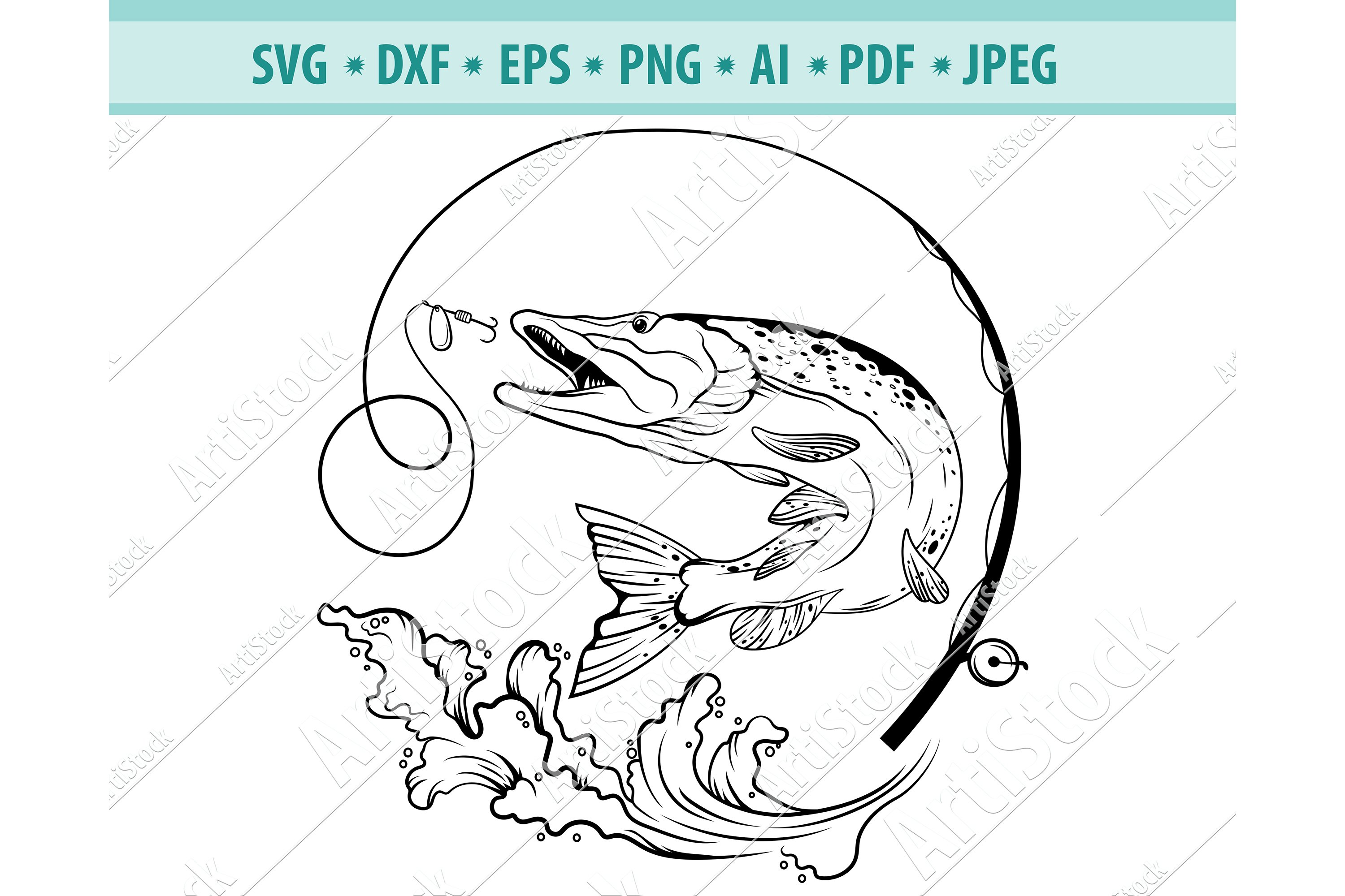 Download Svg A2 Eps Png Partial Fishing Pole Vector Image Svg File Digital Cutting File Ai Dxf Digital Art Collectibles Delage Com Br