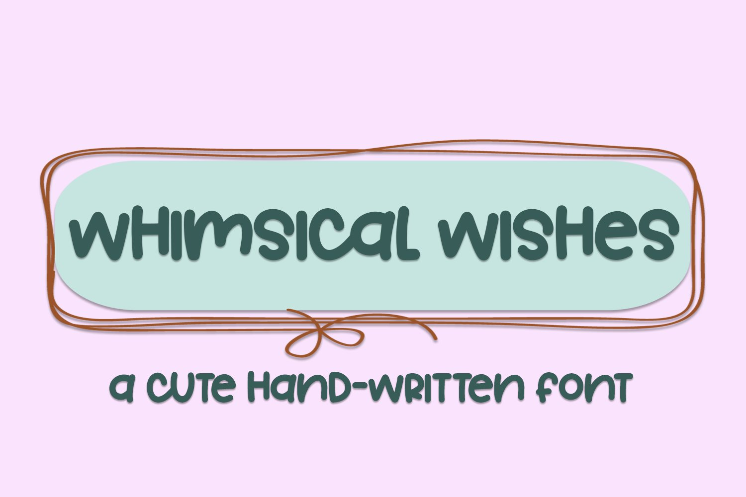 Whimsical Wishes - A Cute Hand-Written Font example image 1