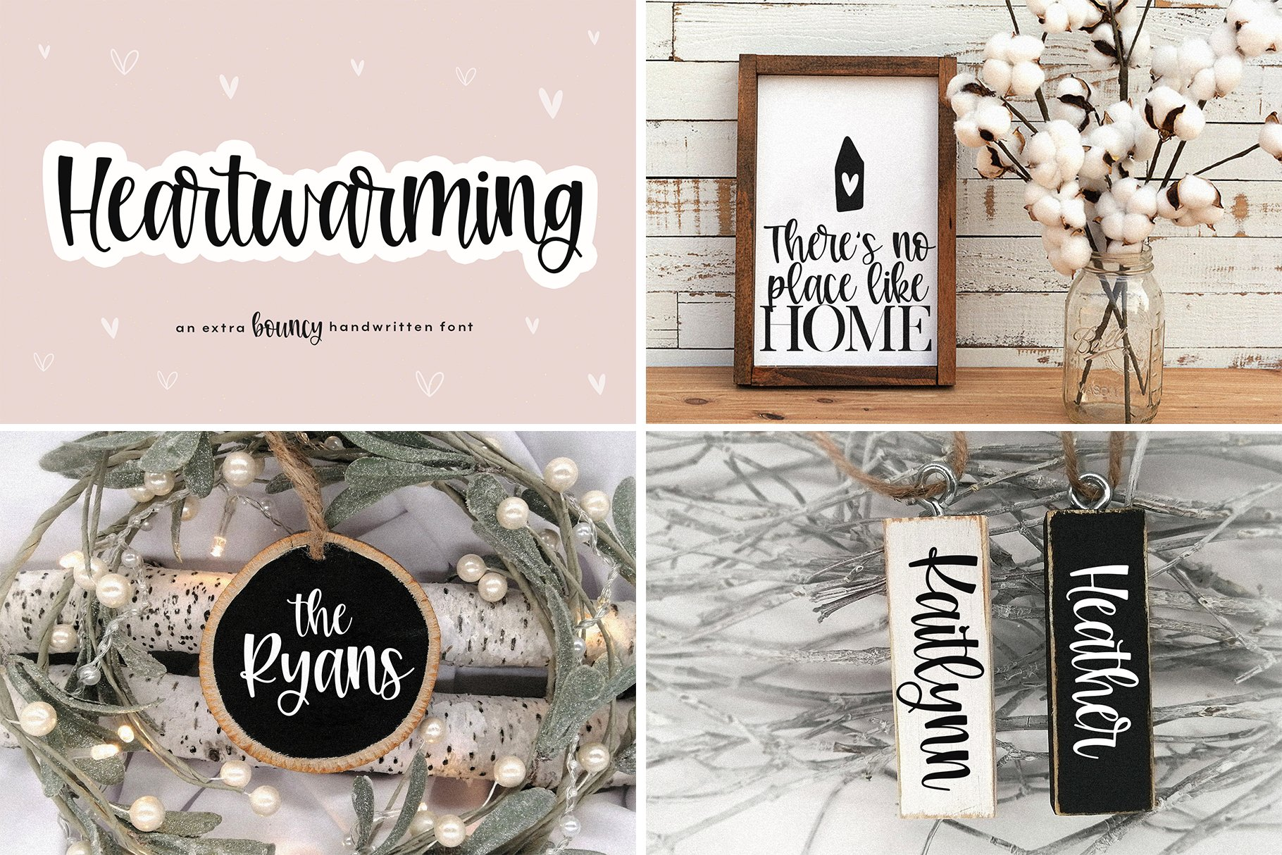 Farmhouse Font Bundle - Handwritten Fonts for Crafters! example image 5