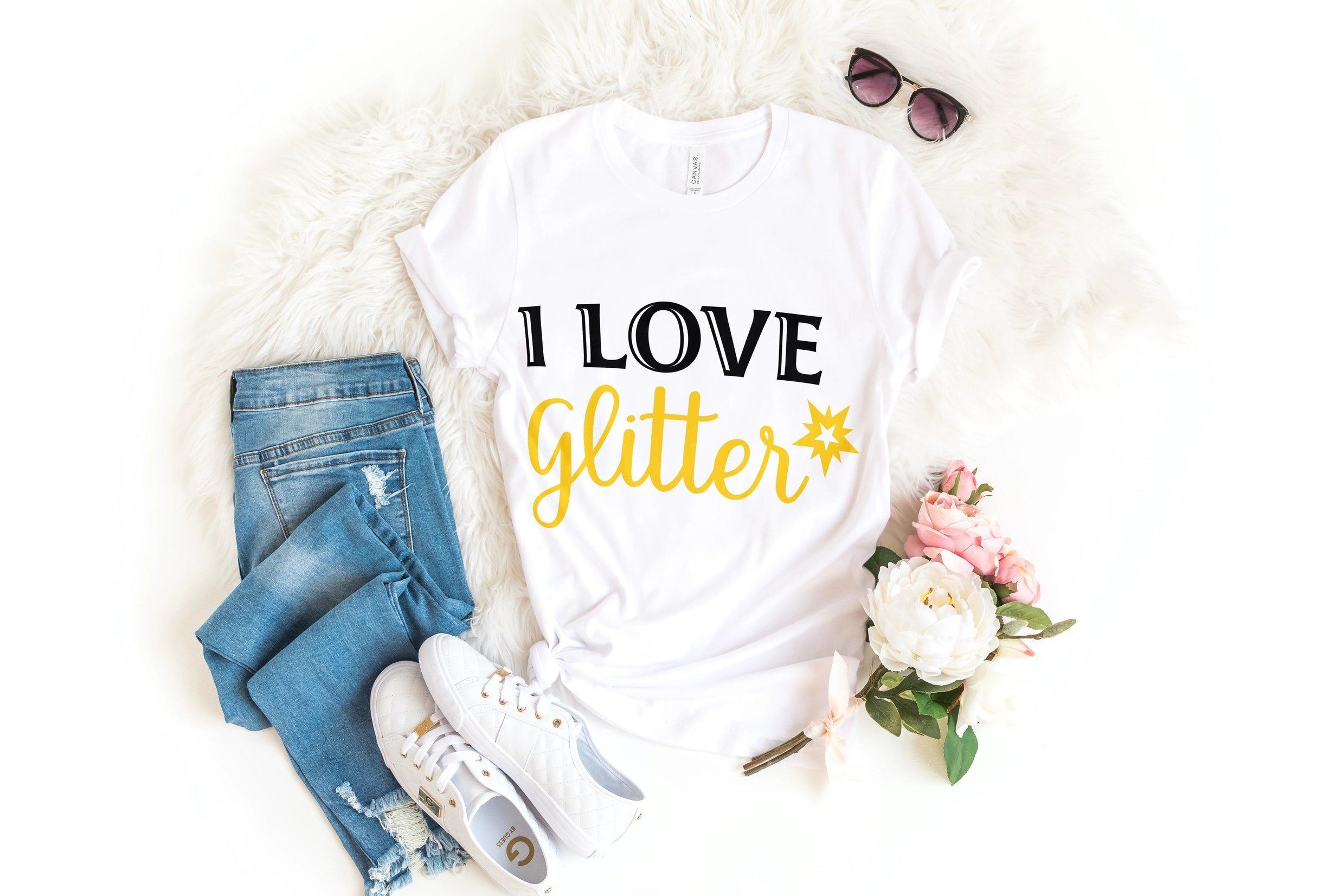 Download I love Glitter SVG (561544) | Cut Files | Design Bundles