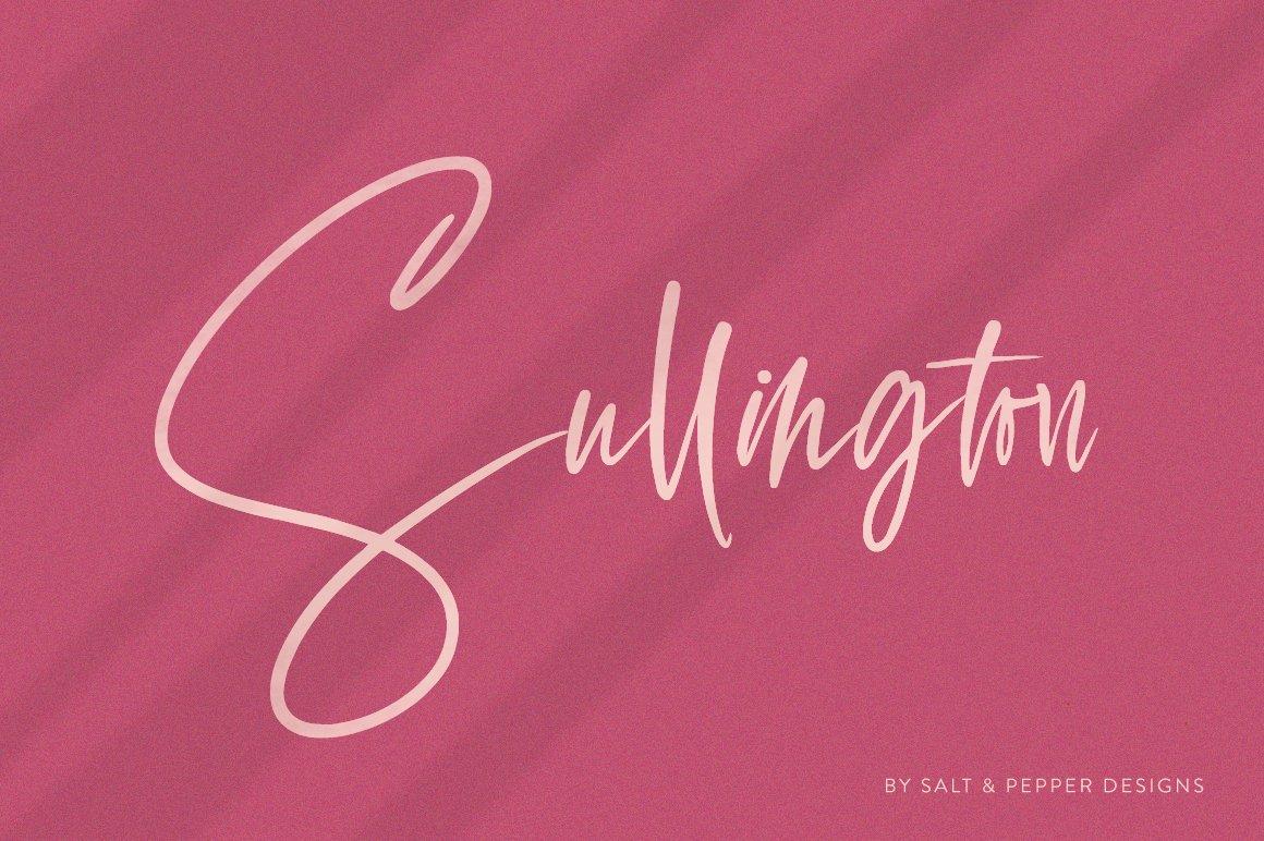 Sullington Script Font example image 1