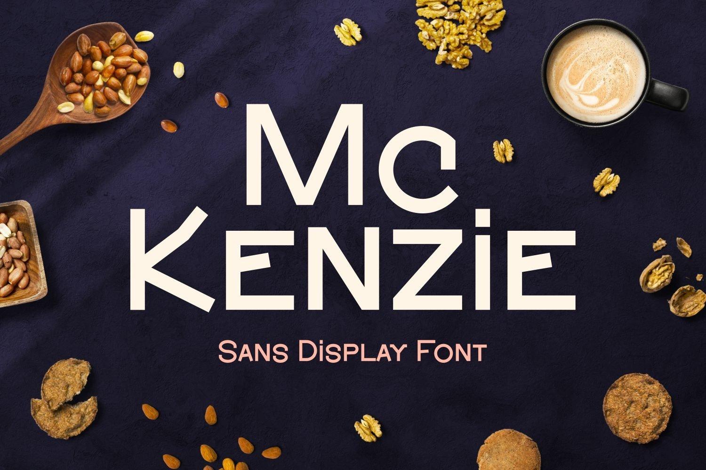 McKenzie - Sans Display Font example image 1