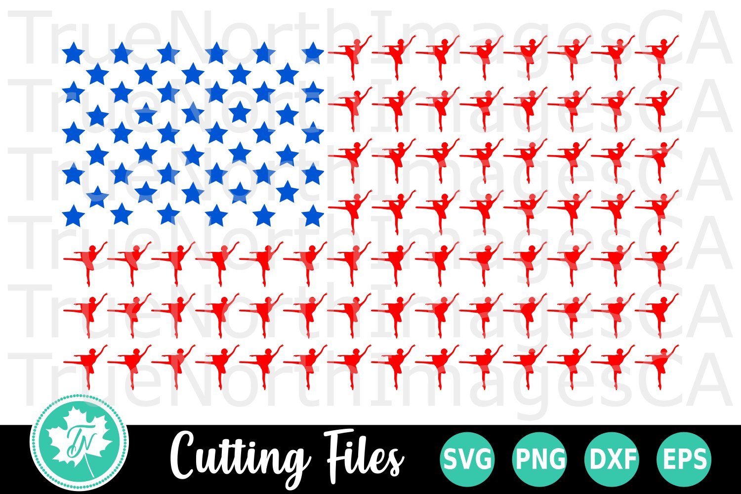 Dance Flag - A Sports SVG Cut File example image 1