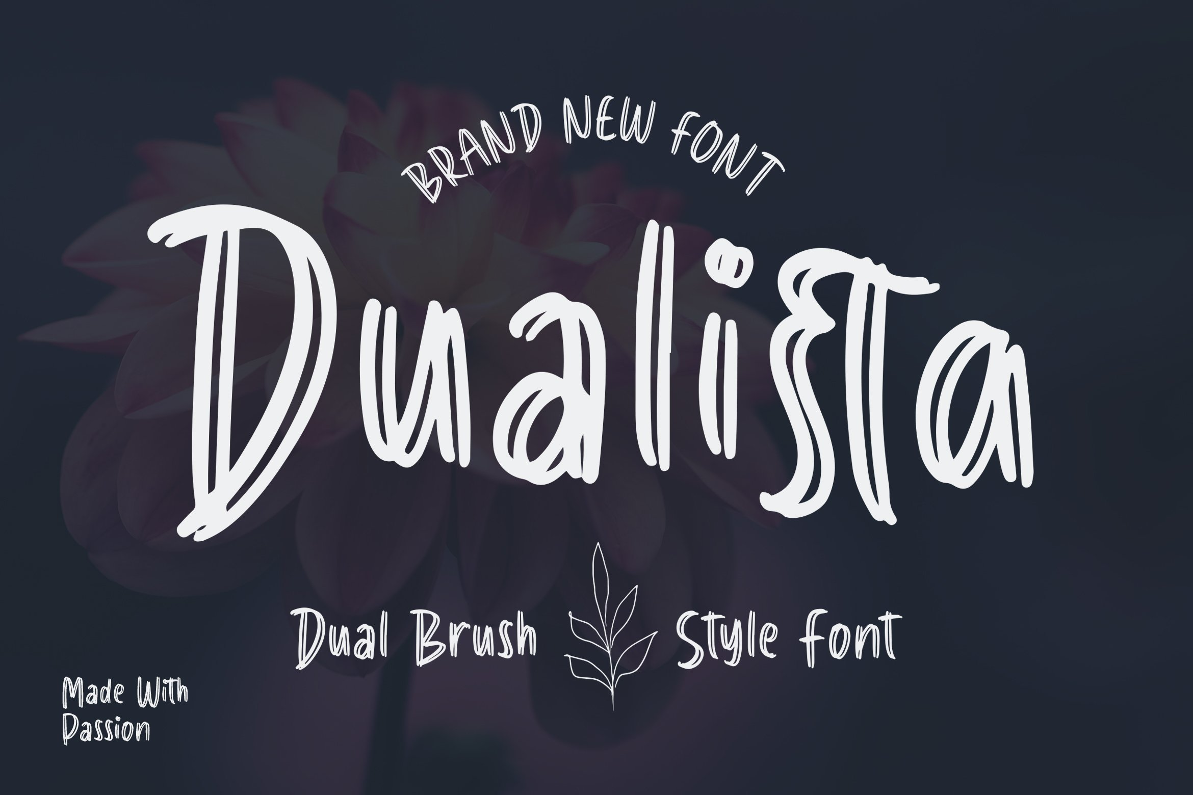 Dualista - Dual Brush Style Font example image 1
