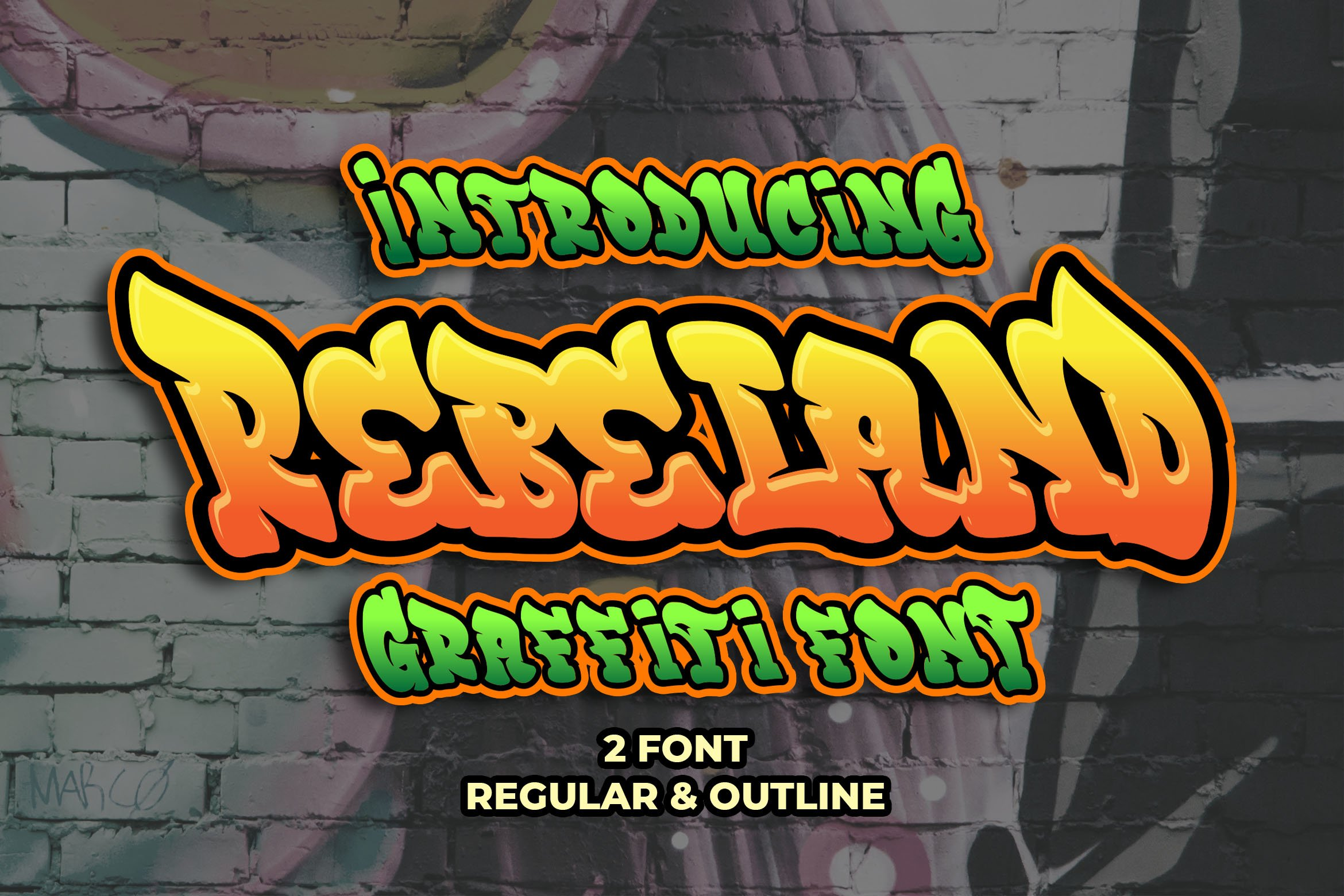 Graffiti Font Bundle example image 4