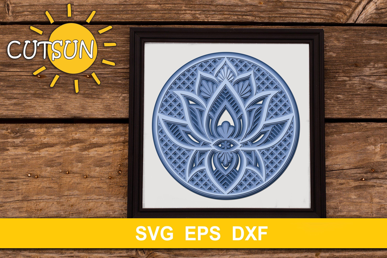 Download 3d Layered Mandala Lotus Svg 4 Layers 537765 Cut Files Design Bundles