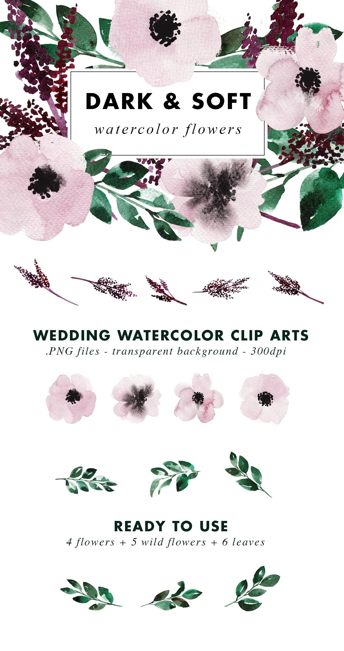 SALE | Watercolor Bundle | Best Sellers Clipart Illustration example image 11