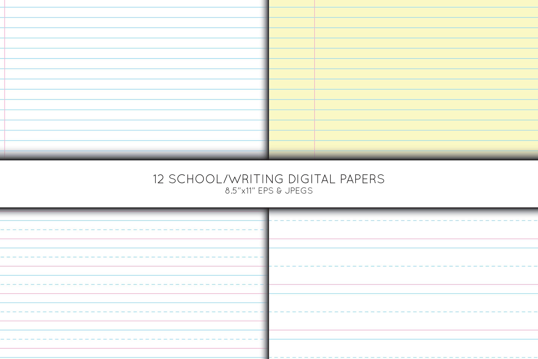 School digital paper, Pre School Paper, Writing paper example image 4