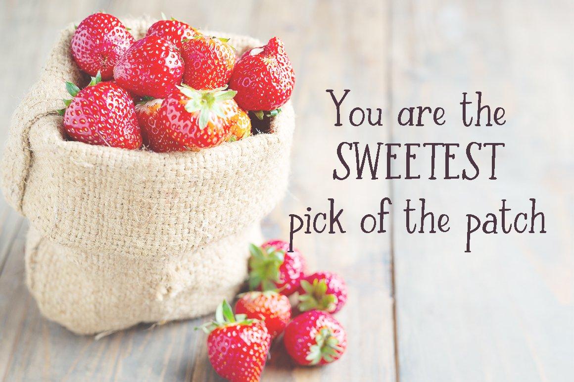 Strawberry Farm | A Serif Font example image 2