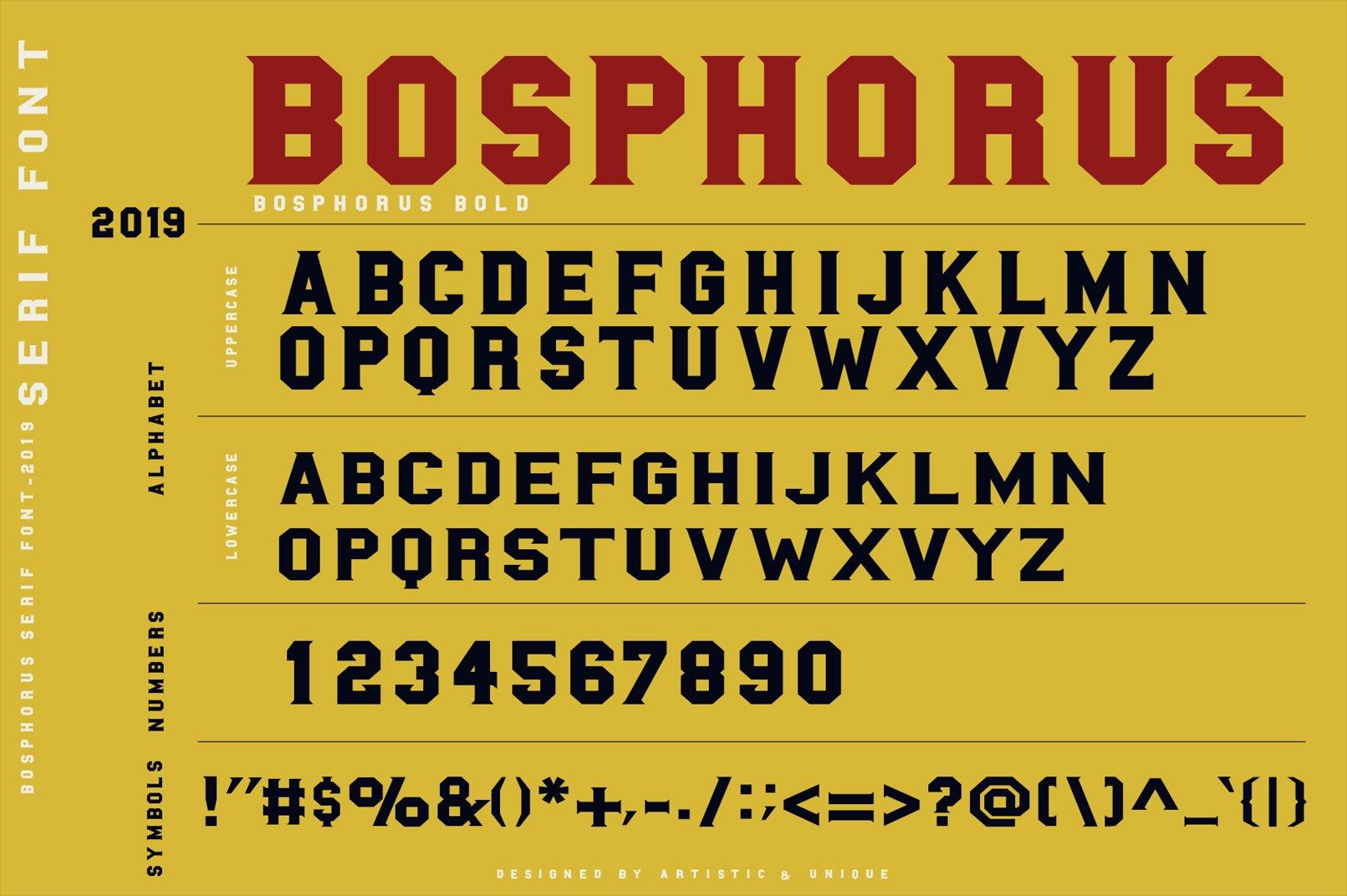 BOSPHORUS Serif font example image 2