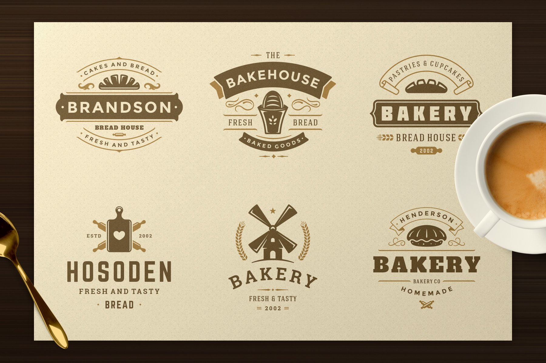 Bakery Logos and Badges example image 5