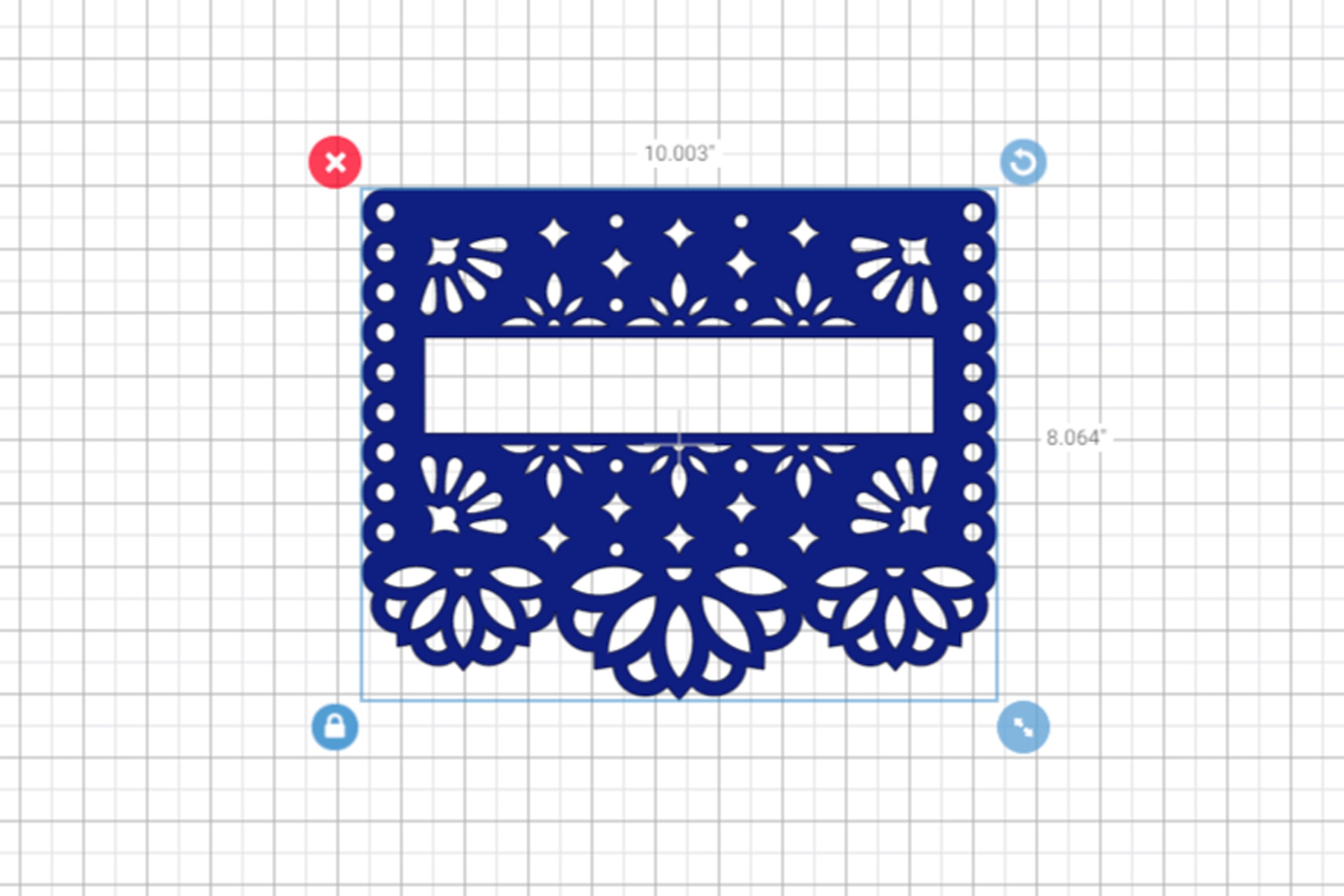 2 SVG blank banners templates in papel picado style example image 3