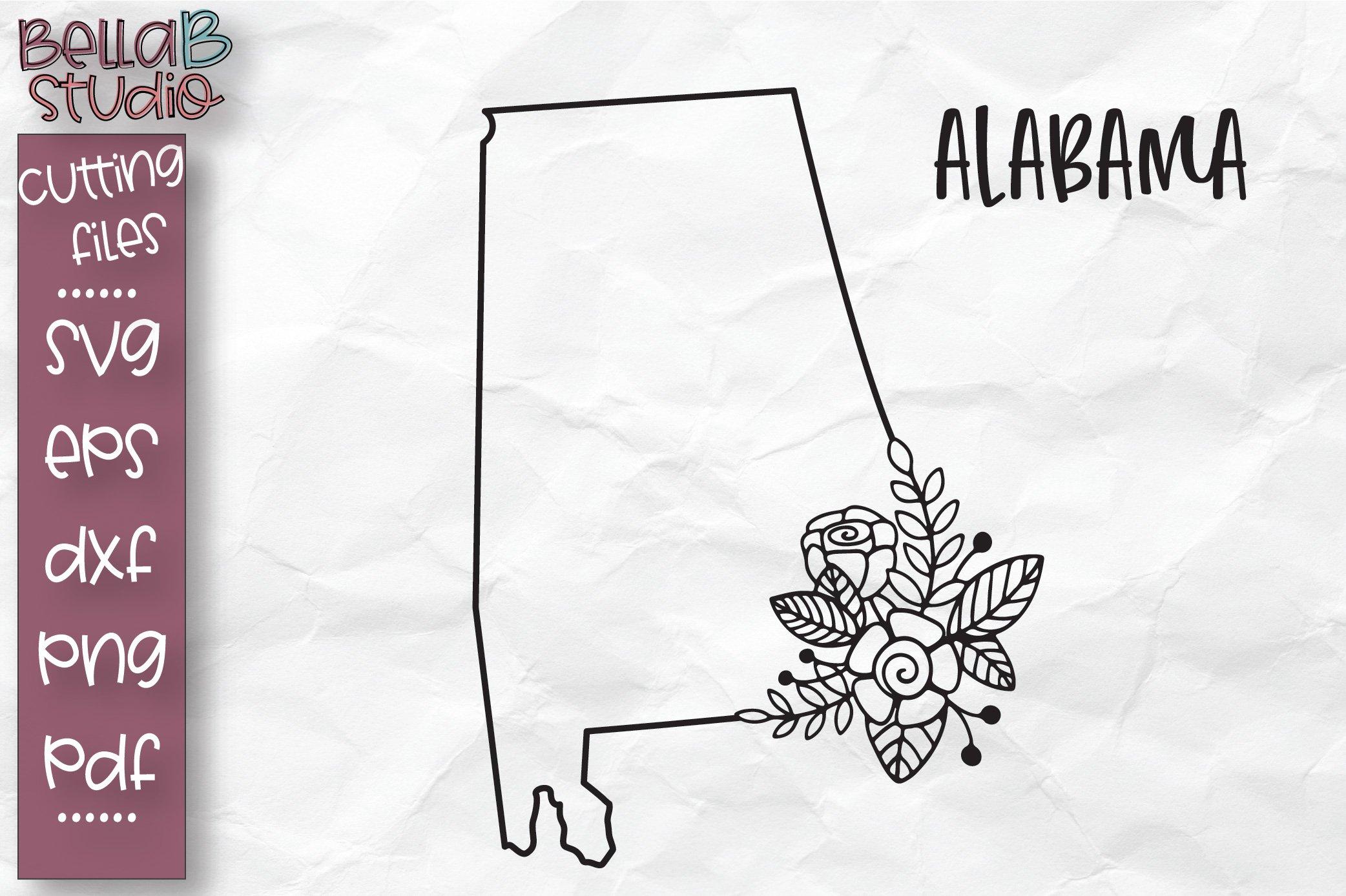 Download Alabama State Svg Alabama Floral State Map Svg Alabama Svg 304866 Svgs Design Bundles