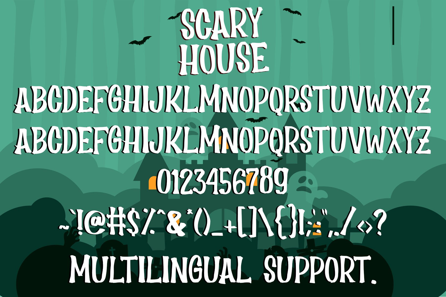 Scary House - Spooky Font example image 5
