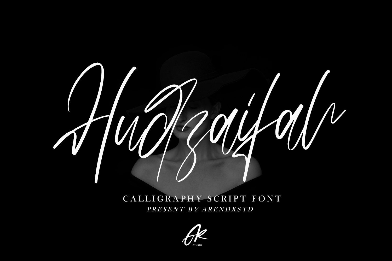 Hudzaifah   Modern Calligraphy Font example image 1
