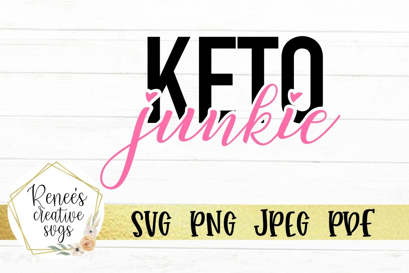 Keto Junkie   Keto diet   SVG Cutting File example image 2