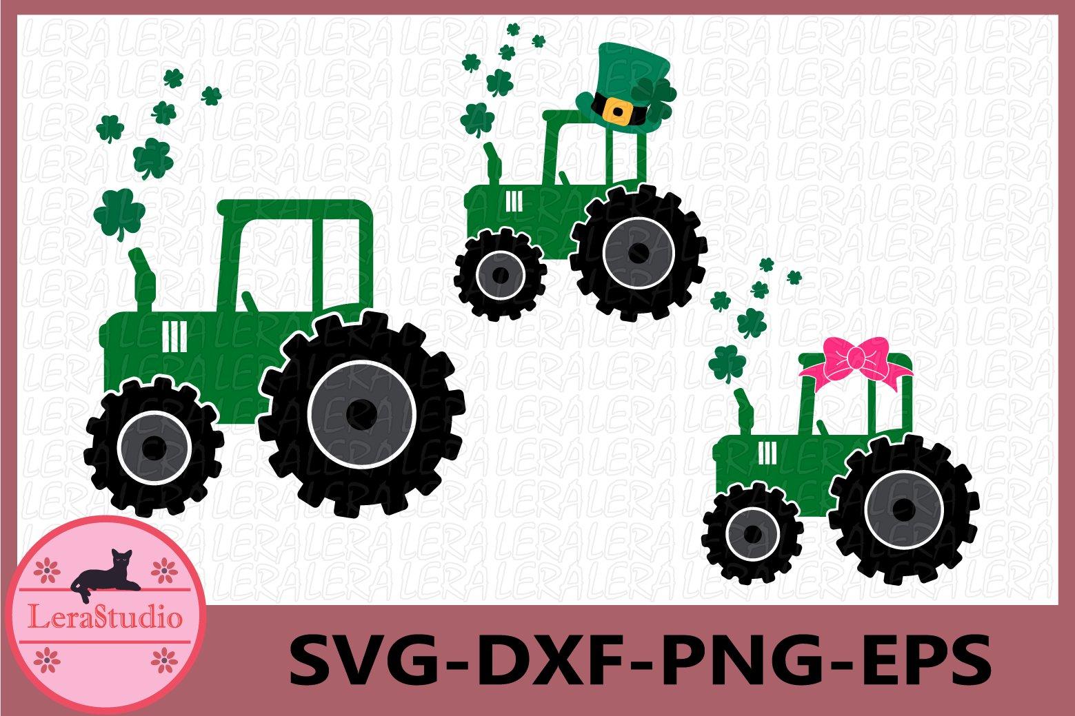 Patricks Day Svg Farm Tractor Svg Clover Svg 436993 Svgs Design Bundles