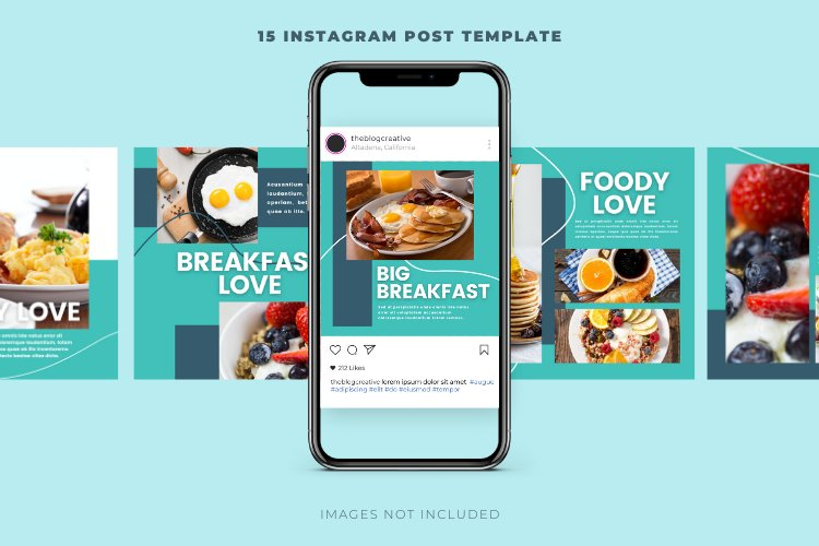 Foody 15 Instagram Square Canva Templates example image 3