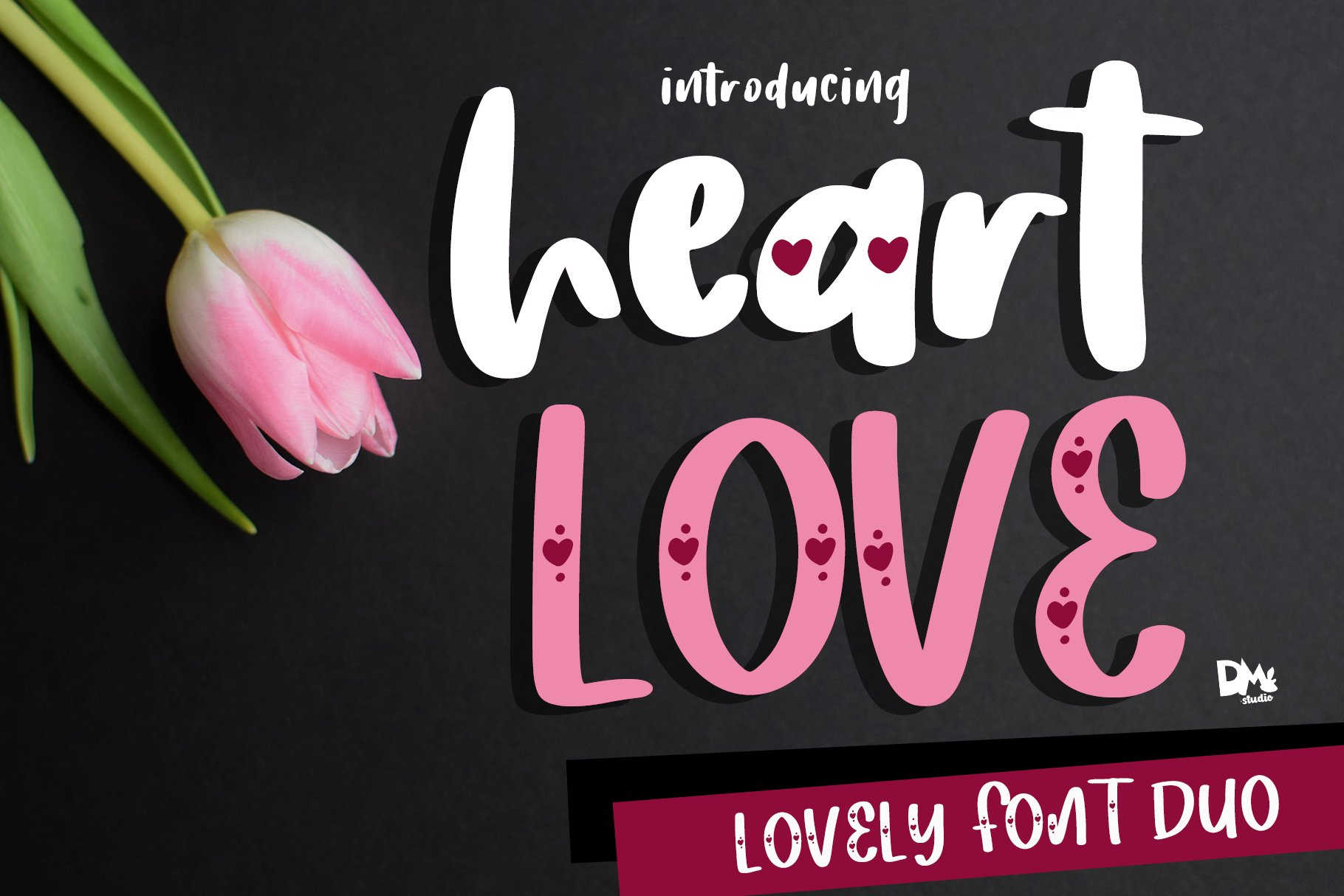 Heart Love - Crafty Lovely Font Duo example image 1