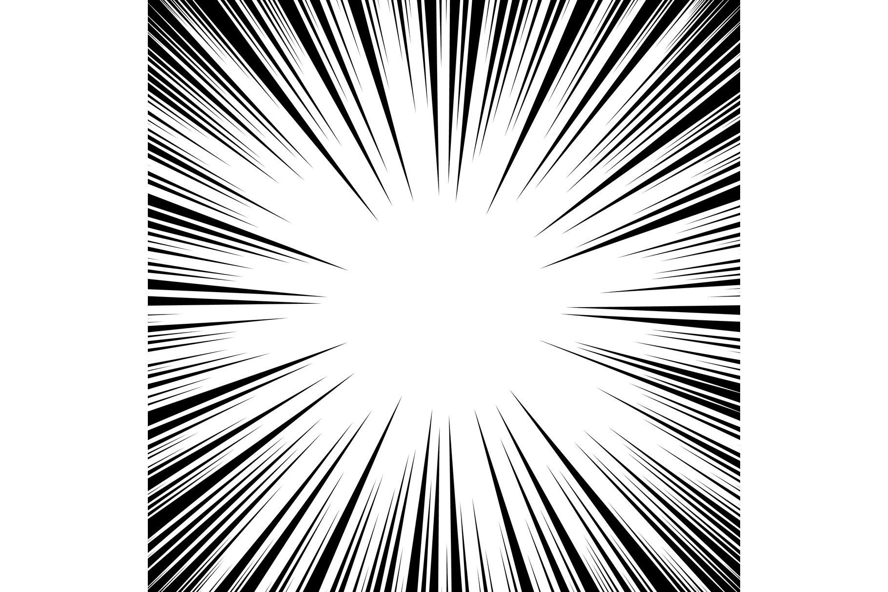 Manga Speed Lines Vector. example image 1