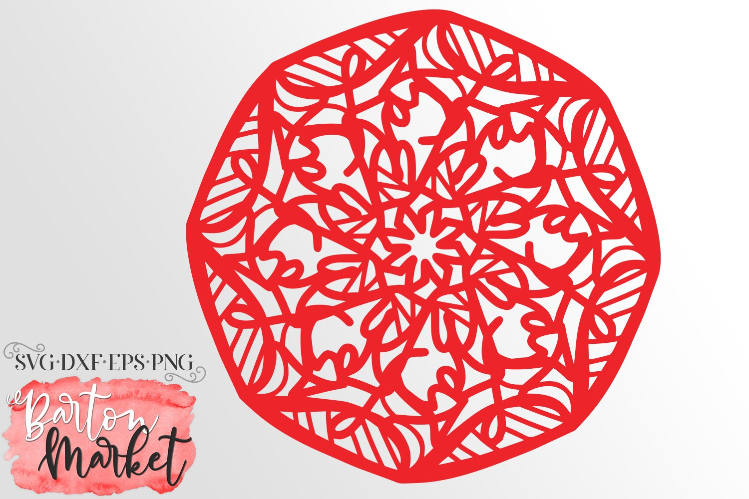 Zooming In Mandala SVG DXF EPS PNG example image 1